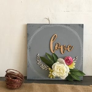 Love - Hand Painted Wood Sign